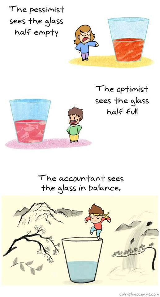 the glass in balance
